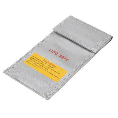 20*10cm Silver Glass Fiber RC LiPo Battery Safety Bag Safe Guard Charge Sack F6