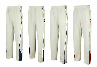 New Mens GFORCE CRICKET TROUSERS Whites Clothing Adults Kit