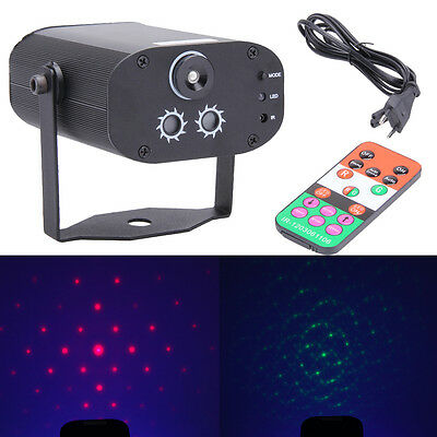 3 Lens 40 Patterns Mini Stage Light LED + Laser Lamp for Party DJ KTV Club Disco