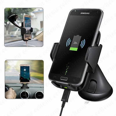 Qi Wireless Charger Charging Car Mount Holder for Samsung Galaxy S7 Note 5 Lot