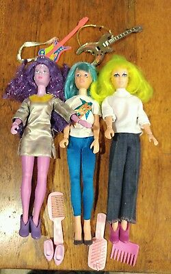3 1985 dolls from Jem and the Halograms