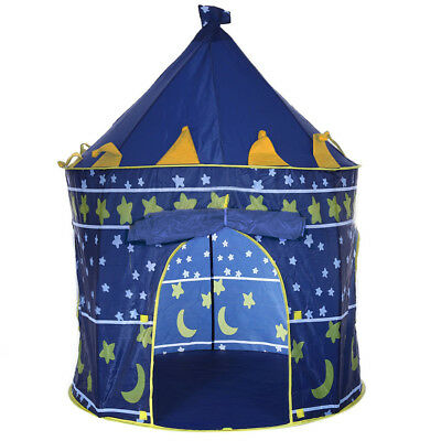 Children Folding Play House Portable Outdoor Indoor Toy Tent Castle Cubby BLUE