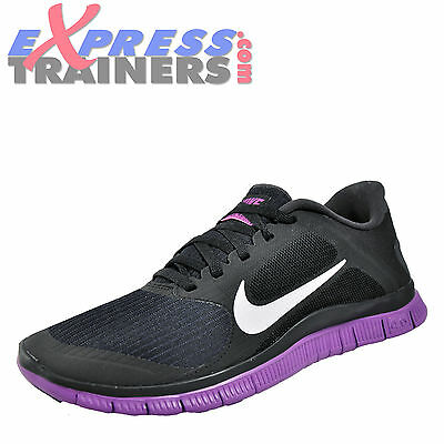 Nike Free 4.0 v3 Womens Running Shoes Fitness Gym Trainers Black UK 6 Only