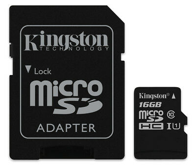 16GB Kingston micro SD HC Memory Card For Philips DVT8000 Voice Recorder