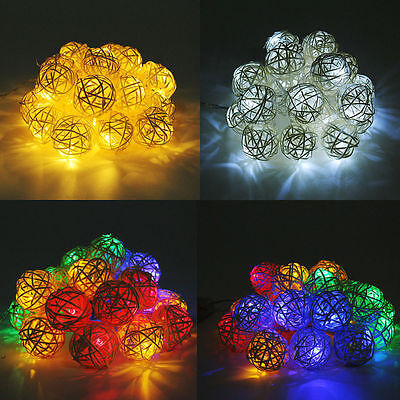 20Ball Fairy LED String Light Party Patio Wedding Christmas Deco Battery Operate
