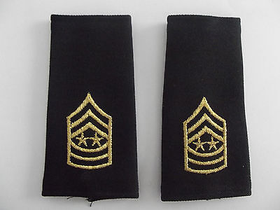 US Schulterklappen New Style Black Shoulder Marks  Sergeant Major of the Army