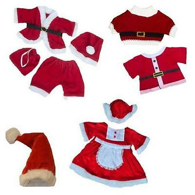"Santa Claus Father Christmas Collection Teddy Outfit Fits 16"" Build A Bears"