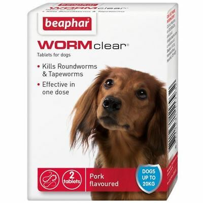 Beaphaer WORMclear wormer for dog's up to 20kg - 2 Tablets