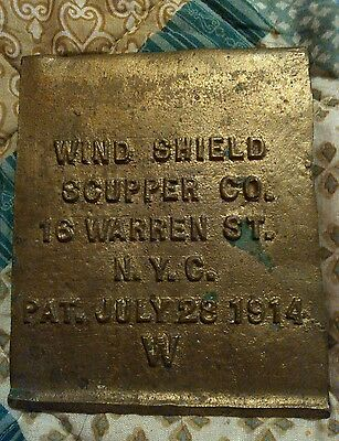 Wall drain cover vintage wind shield Scupper Co 1914