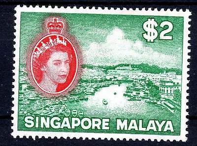 Singapore Qeii High Value $2 M/hinged Cat £43.00 1956 :