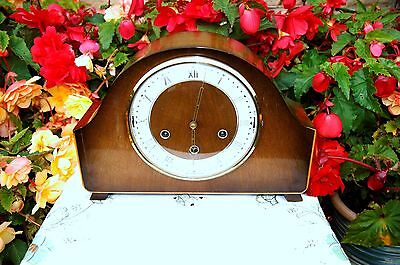 Stunning & Rare Smiths Acoustic Chime Westminster Whittington Mantel Clock 1956.