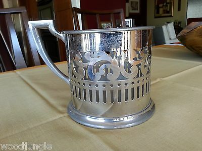 Antique STERNAUWARE NEW YORK  ART DECO CHROME HOLDER CUP LARGE Vintage Nouveau