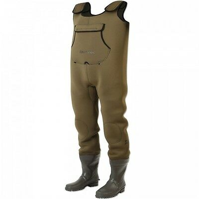 NEW Daiwa Endura 5mm Neoprene Fishing Chest Waders - Size 12 - DENC12