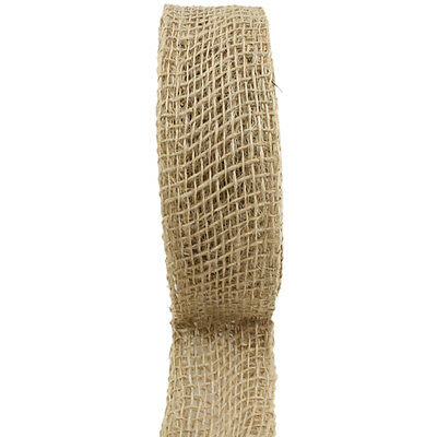 "Jute Ribbon 2""X10yd Natural RCJ02-12"