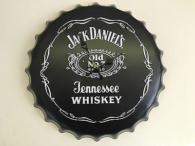 Authentic Vintage Jack Daniels Large Wall Clock Retro Man Cave Bar Plaque Home