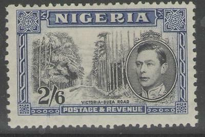 Nigeria Sg58 1938 2/6 Black & Blue Mtd Mint