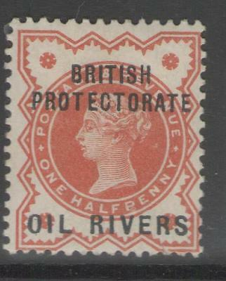 OIL RIVERS SG1 1892 ½d VERMILION MTD MINT