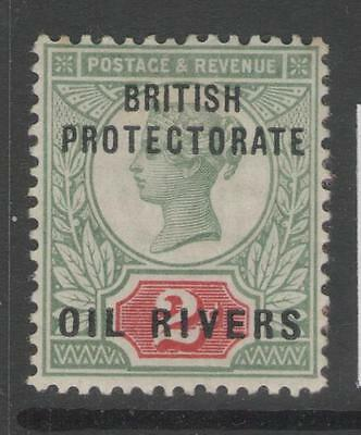 OIL RIVERS SG3 1892 2d GREY-GREEN & CARMINE MTD MINT