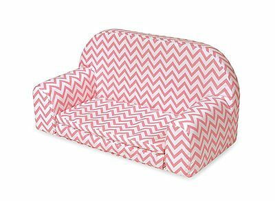 Badger Basket Chevron Upholstered Doll Sofa with Foldout Bed Fits American Girl