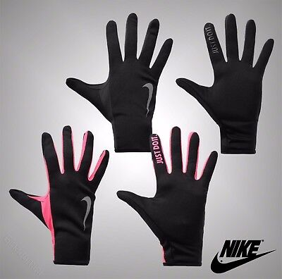 Ladies Nike Dri-Fit Silicone Just Do It Print Rally Running Gloves Size S M L