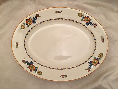 """Vintage J & G Meakin Platter 12"""" X 9"""" Large Oval Dish Plate Made In England"""