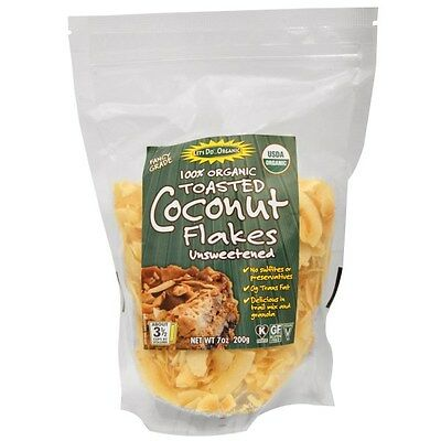 Edward & Sons, Let's Do Organic, 100% Organic Toasted Coconut Flakes Unsweetened