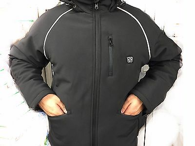 Premium 12v Black Heated Jacket + 1x 4400mAh Battery (Bat Included) MED