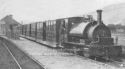 Photo Of Corris Railway Train At Machynlleth Station Wales About 1900