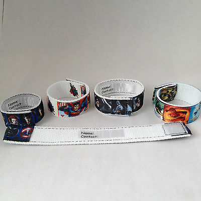 Superhero wristband, Children wristband, Batman, Ninja Go, Superman, Iron Man,