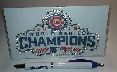 Chicago Cubs World Series Custom Checkbook Cover With Free Awareness Pen