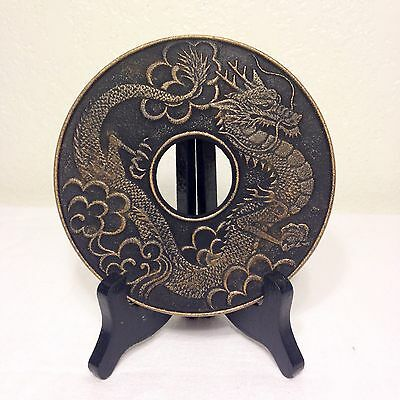 NWT Imperial Dragon Trivet Hot plate Gold/Black JAPAN