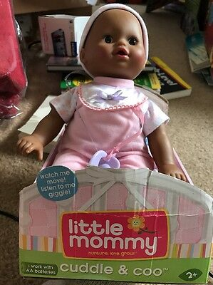 Fisher Price Little Mommy Newborn Real Cuddle & Coo Baby Doll Interactive NEW!!