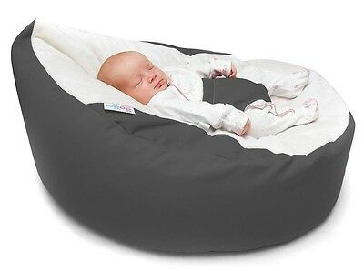 Baby Bean Bag Waterproof Chair Anti Slip Seat Soft Beanbag with Safety Harness