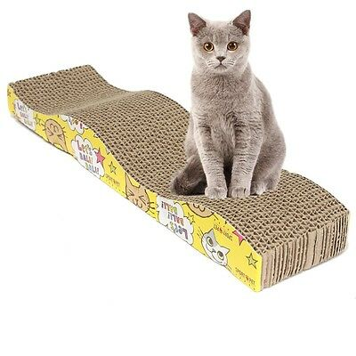 S-Shaped Cat Kitten Corrugated Scratch Board Pad Bed
