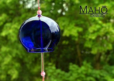 Japanese Traditional Summer Bell Furin Wind Chime refreshing sound Indigo BLUE