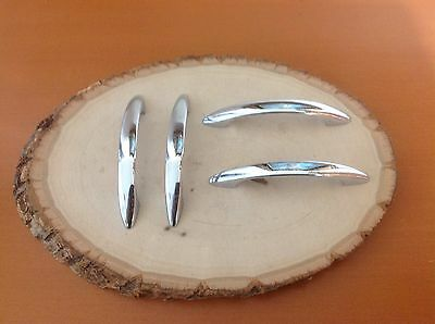 A600 VTG  MidCentury Handles In A Stainless Steel. Set Of 4