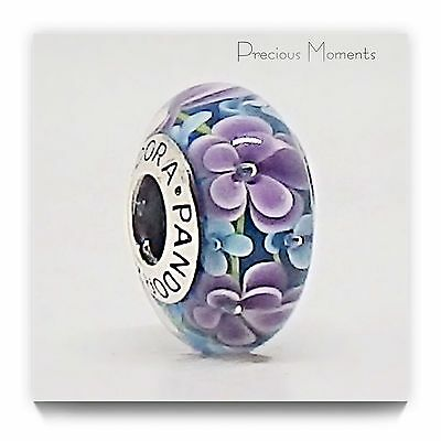 Gorgeous Genuine Pandora Flower Murano Glass Bead
