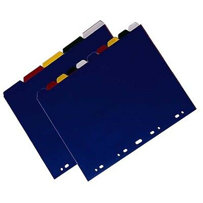 3 x Divider A4 PVC 5 Tab Extra Wide Each Set