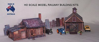 HO Scale Country Shack & Shed Barn, Model Railway Building Kit - CSS2