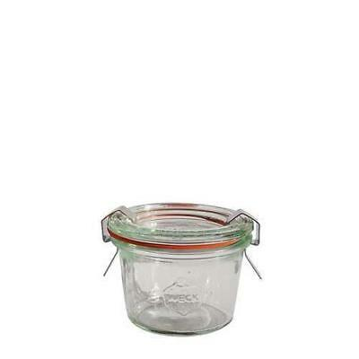 12x Mini Glass Serving Jar, 80mL, Weck, With Clips And Seal, Condiment / Sauce