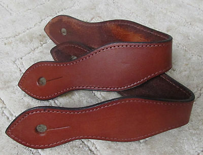 New Mahogany Leather One Piece Slobber Straps for Western Reins or Mecate