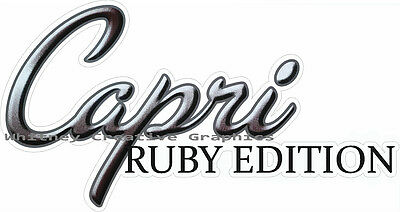 HOLIDAY RAMBLER RV LOGO Lettering decal Graphic Spelled Word Version