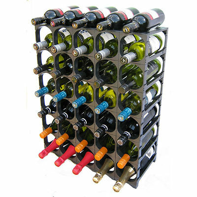 CellarStak Black Plastic Wine Rack - 35/36 Bottles