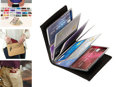 Wonder Wallet Men Women Slim RFID Wallet As Seen on TV Leather Free Ship From US