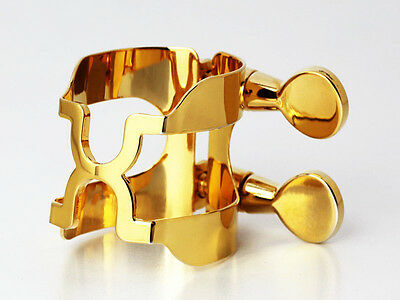 HARRISON Style AD Gold Plated Ligature for Dukoff Alto Metal Mouthpiece