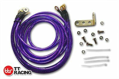 Purple HKS Super Earth Cable Wire Grounding Kit Performance Universal