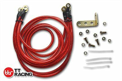 Red HKS Super Earth Cable Wire Grounding Kit Performance Universal