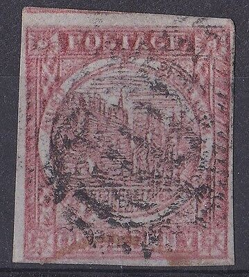 MN28) New South Wales . **RARE**    1850 SG 11 1d Dull Carmine Sydney View