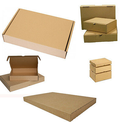 500x Large Letter Boxes 180 x 130 45 mm Cardboard Box Pack Folding carton brown