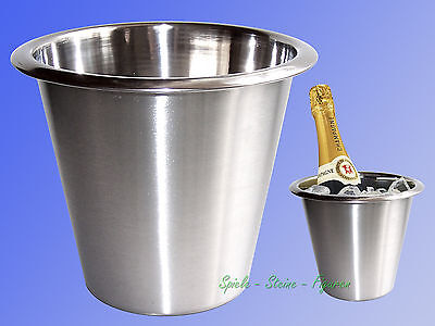 Stainless Steel Champagne Cooler, Wine Ice Container, Cube Bucket